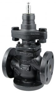 3-way flanged valve, PN 40 (el.)